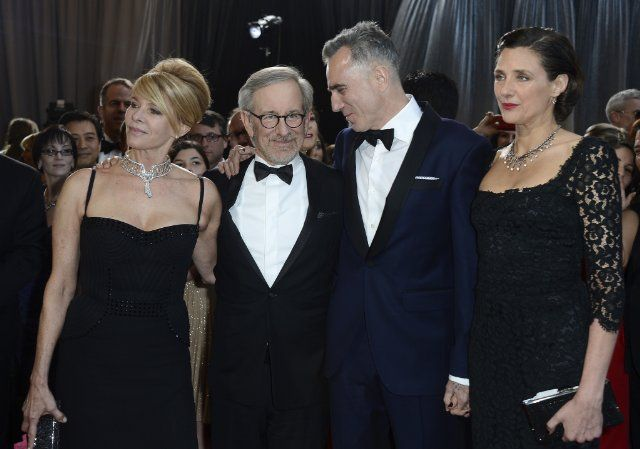 Steven Spielberg, Daniel Day-Lewis, Kate Capshaw and Rebecca Miller