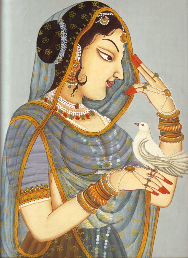 Rajput Painting   Rajput Princess Paintings Rajasthani Dance Painting Pic #18