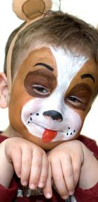 Face painting with homemade face paint