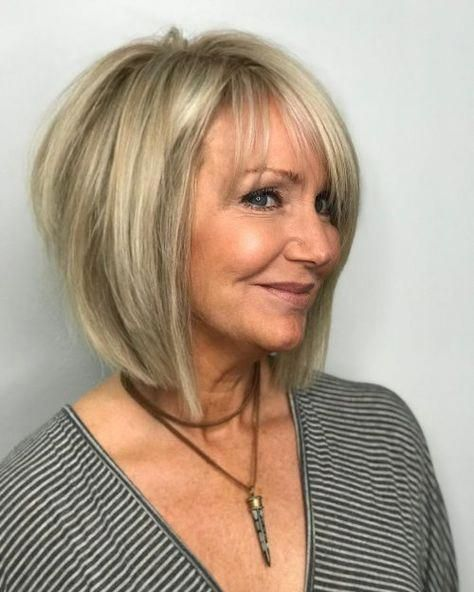choppy hairstyle for women over 60 years old
