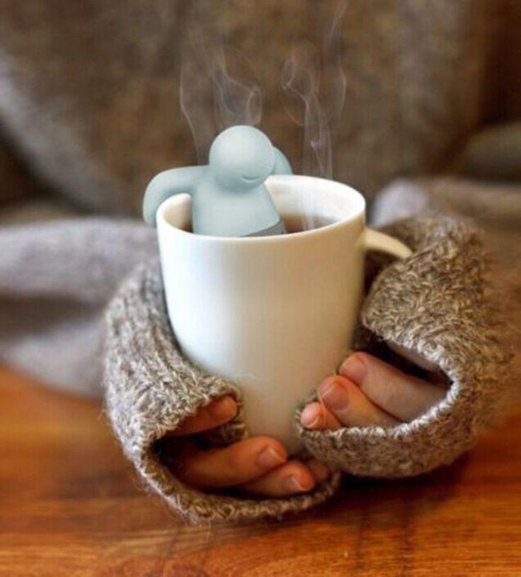 New Silicone Mr.Tea Infuser Loose Tea Leaf Strainer/ Tea bags, Herbal Spice Filter