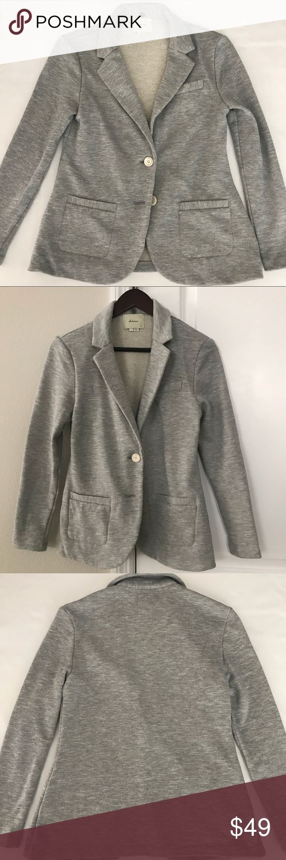 Anthropologie Elevenses.  Gray jacket. Anthropologie Elevenses.  Gray jacket. Super cute jacket /blazer for those chilly nights. No snags or stains in great condition. Anthropologie Jackets & Coats