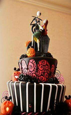 Awesome nightmare before Christmas cake