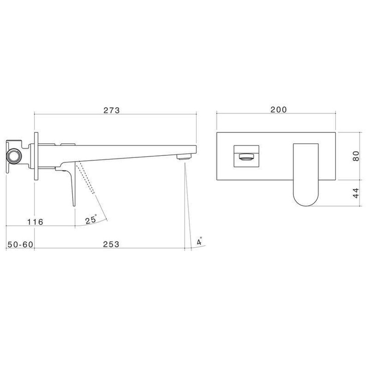 ABL Tile Centre - Arc Wall Bath Mixer with Plate, $369.00 (http://www.abltilecentre.com.au/arc-wall-bath-mixer-with-plate/)