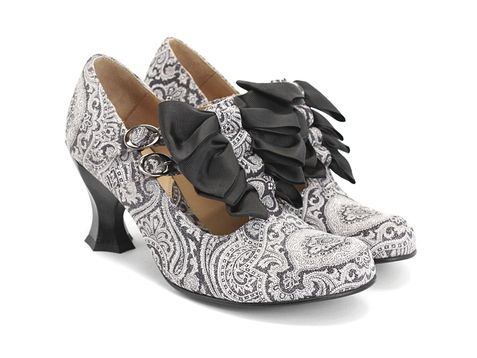 Fluevog - Caravaggio (Grey Paisley). $299. These seriously look like art for your feet.