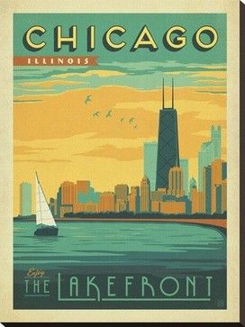 """""""Chicago, Illinois: Enjoy The Lakefront"""" by Anderson Design Group craftsman-fine-art-prints"""