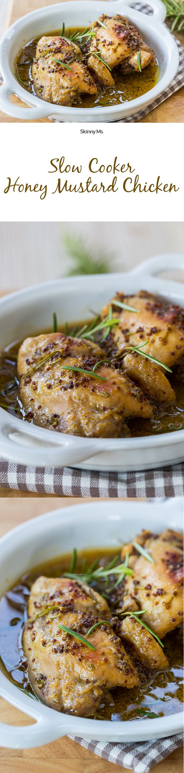 Slow Cooker Honey Mustard Chicken--this recipe is so easy and soooo good!