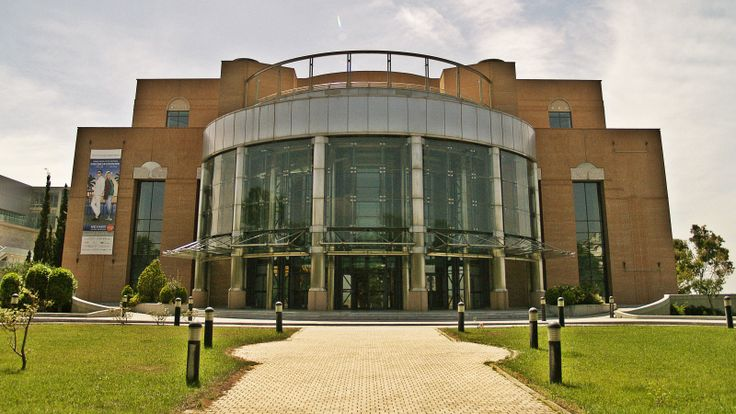 The main entrance of the Thessaloniki Concert Hall. (Walking Thessaloniki - Route 17, Depot)