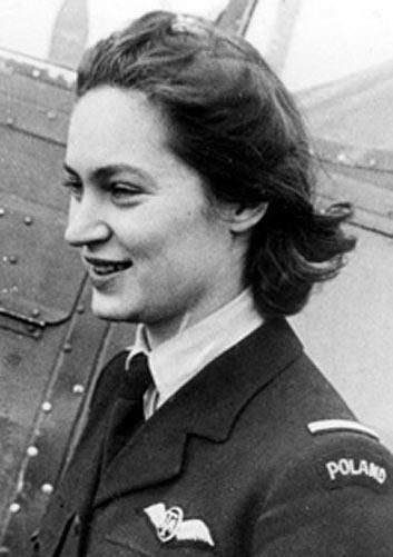 Jadwiga Pilsudska (born 1920), daughter of Polish Marshal and former Head of State Jozef Pilsudski, in uniform as a a Flying Officer of the British Air Transport Auxiliary, in which she served