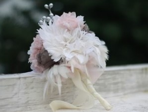 How To Make A Bridal Bouquet With Feather and Fabric Flowers | Flower Making Tutorials