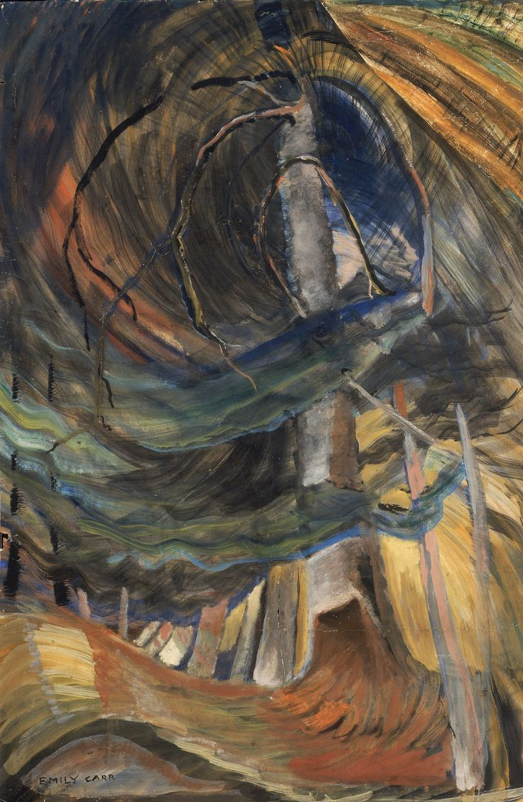 Tree spiralling upward 1933-4 Emily Carr at Dulwich Picture Gallery – in pictures