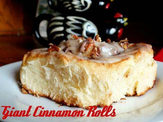 Texas Giant Cinnamon Rolls with pecans of course! TexasWellSeasoned.com
