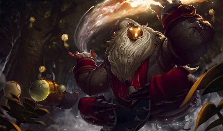 Bard | League of Legends Bard travels through realms beyond the imagination of mortal beings. Some of Valoran's greatest scholars have spent their lives trying to understand the mysteries he embodies. This enigmatic spirit has been given many names throughout the history of Valoran, but titles such as Cosmic Vagabond and Great Caretaker only capture a fleeting aspect of his true purpose.