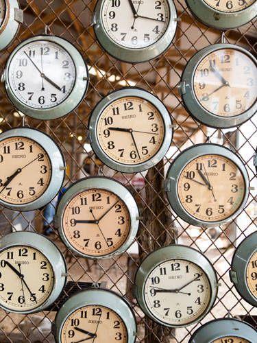 Love these antique Navy clocks!