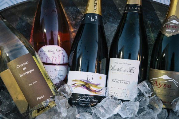 Jill Bernheimer, owner of the wine and spirits store Domaine LA, rolls out her favorites - Champagnes, Crémants de Bourgogne and more -...