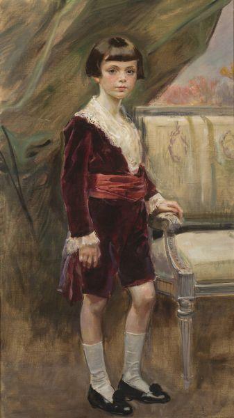 Portret Karola Krystalla jako chłopca - Wojciech Kossak