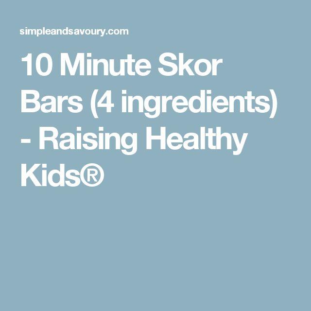 10 Minute Skor Bars (4 ingredients) - Raising Healthy Kids®