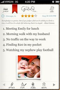 Gratitude journal app <-- Yes, this. I need this.