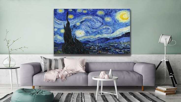 "If you love the classics, you can find this ""Starry Night"" by Vincent Van Gogh in #thecanvasartfactory"
