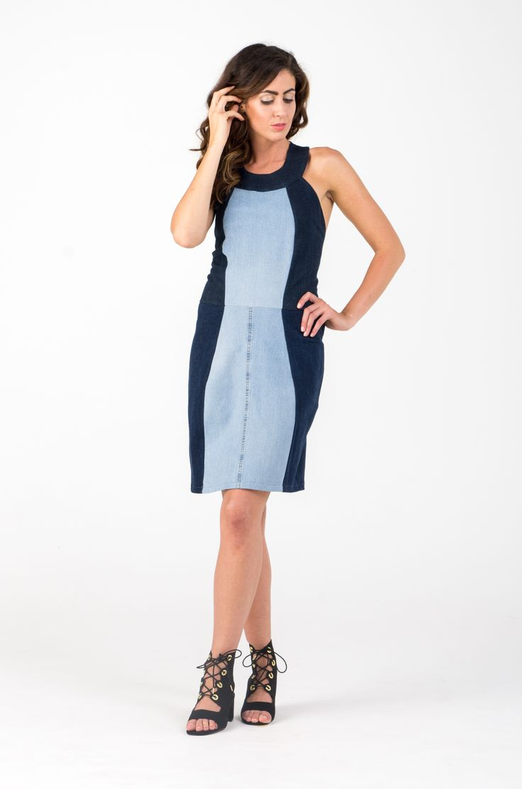 Ethical, conscious, upcycled, recycled, fashion, design, denim, old jeans, casual, AW, trend, woman, dress, blue, DIY, sewing https://www.etsy.com/shop/SHAROLTA?ref=hdr_shop_menu