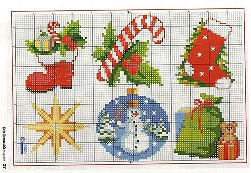 Christmas cross stitches