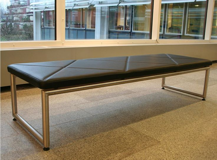 Upholstered leather bench seating BENCH by Onecollection | design Henrik Tengler