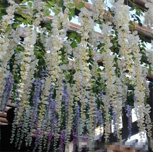 Wedding Altar Name: Elegant Artificial Flowers Simulation Wisteria Vine