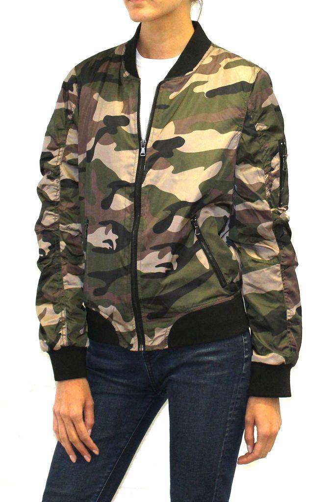 Camo Print Bomber Jacket  #camo #camouflage #bomberjacket #jacket #camojacket