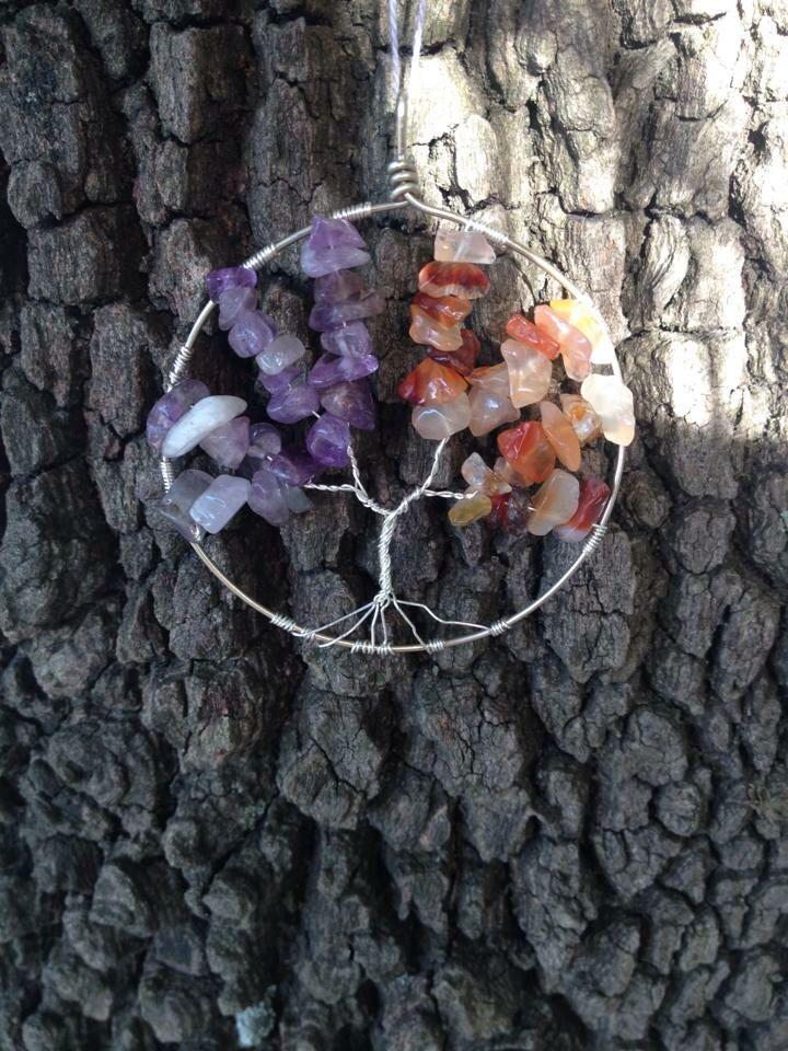 Tree of life amethyst and carnelian