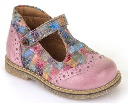 Froddo G2140026-2 Pink Multi T-bar Shoes