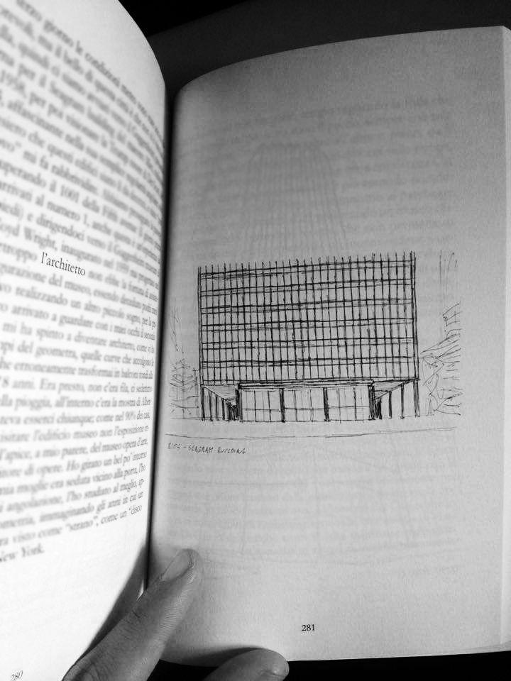 """""""L'architettura è la volontà dell'epoca tradotta nello spazio"""" - Ludwig Mies Van der Rohe  mi chiedo quale possa essere la volontà dell' epoca contemporanea  Mies van der Rohe #seagrambuilding #newyork #larchitettononserve #travel #architecture #sketch #book"""