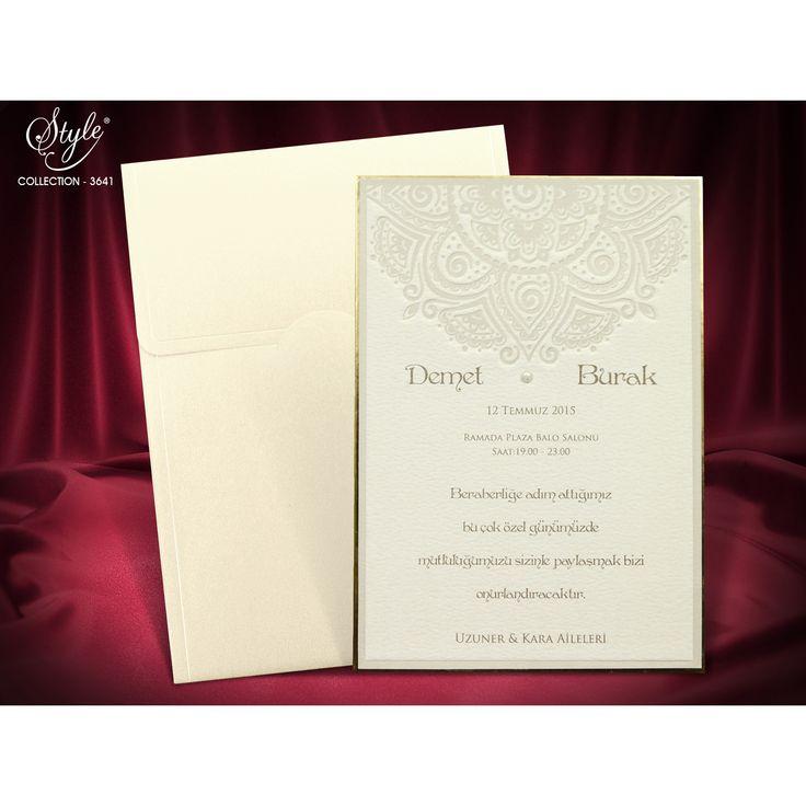 Style Düğün Davetiyesi Modelleri 3641