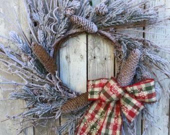 Couronne de Noël de lhiver pour porte par marigoldsdesigns sur Etsy