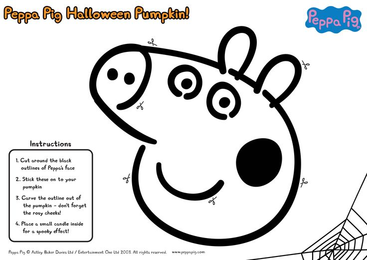 You too can make your very own Peppa pumpkin for your little piggies!