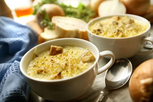 Луковый суп - Рецепты лукового супа - Как правильно варить луковый