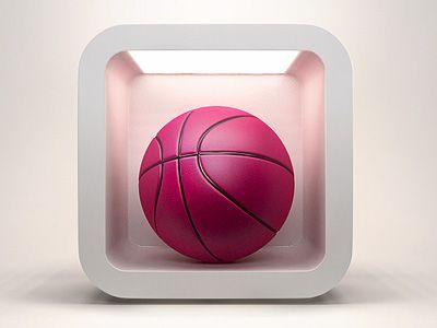 Dribbble IOS Icon by Ali Rahmoun