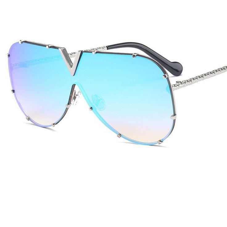 Sunglasses Pilot Women Brand Designer Men Luxury Mirror Sunglass V Oversize Clear Female 2018 Sun Glass Eyeglass Female Flat Top