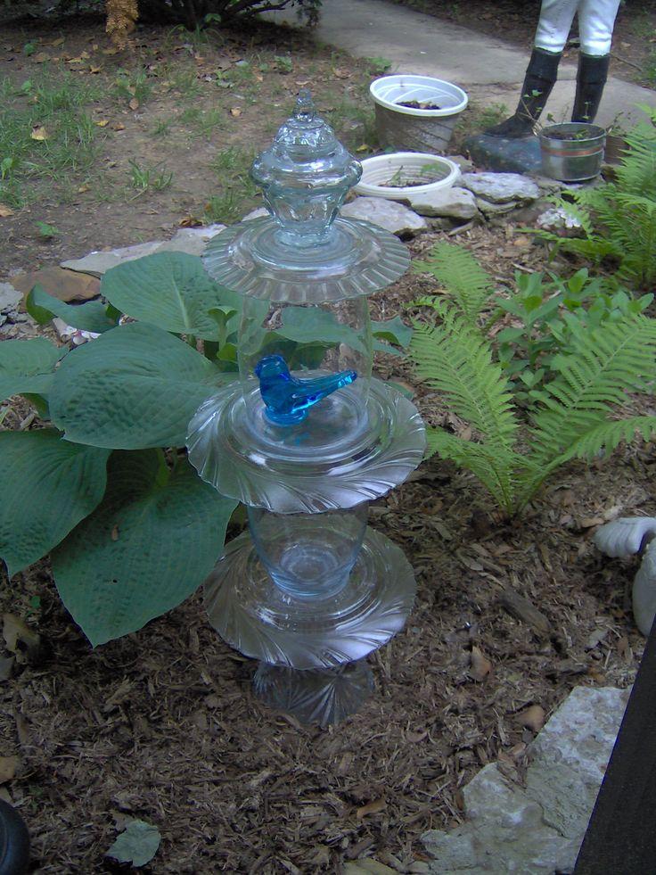 Repurposed Glassware totems