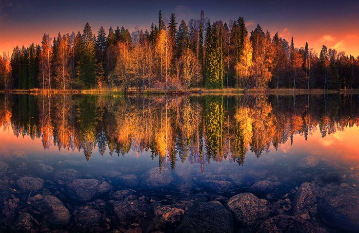 The Morning Reflection. Hämeenlinna | Syksy / Ruska ...