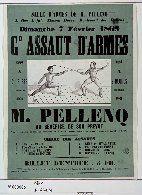 Salle d'armes de M. Pellenq, 1, rue Laffite... Dimanche 7 février 1869 : Gd Assaut d'armes