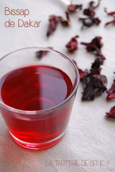 bissap: hibiscus, sugar and water