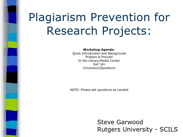 project report on plagiarism Plagiarism policy of srm institute of science and technology preamble:  of  their work, be it assignment, term paper, project report, thesis or dissertation etc.