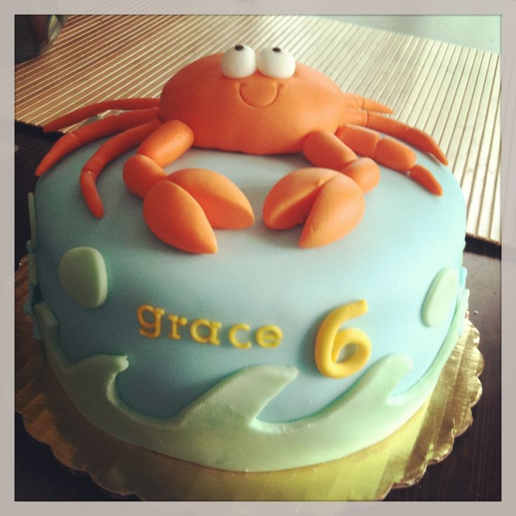 Crab birthday cake by Lovely Little Cakes