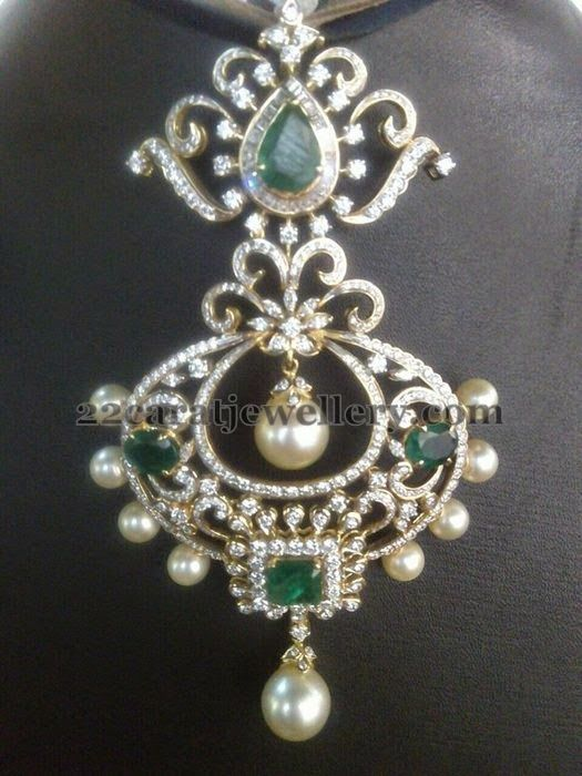 Jewellery Designs: Diamond Pendant by Praveena Tipirneni