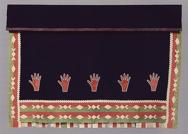 Woman's Wearing Blanket: early 20th century, Oklahoma, Osage, H 60x  W67 inches