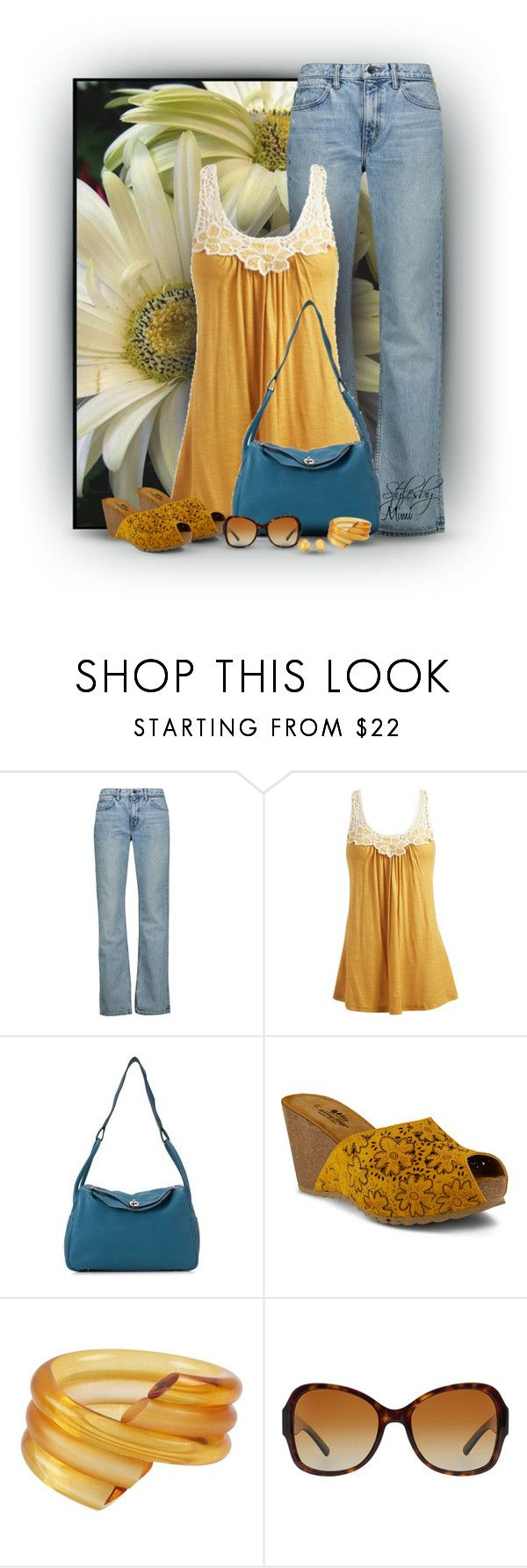 """""""Daisies for Mom (4.29.17)"""" by stylesbymimi ❤ liked on Polyvore featuring Trilogy, Helmut Lang, Wet Seal, Hermès, Spring Step, Judith Hendler, Tory Burch and Vera Bradley"""