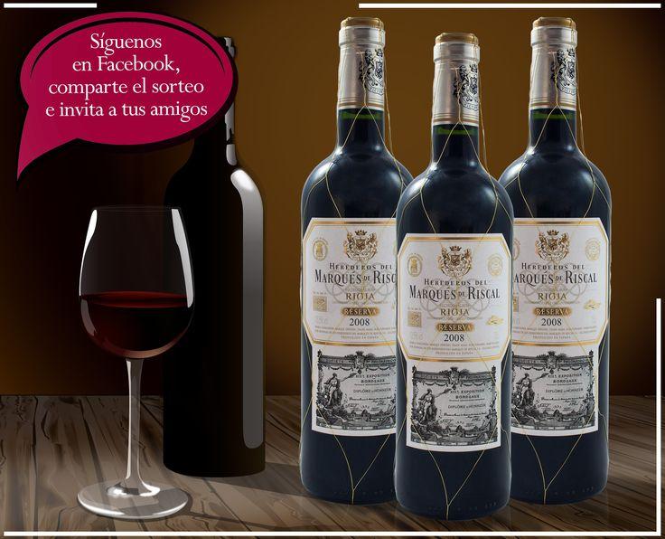 ¡Vino Tinto D.O. Rioja Reserva MARQUÉS DE RISCAL GRATIS!