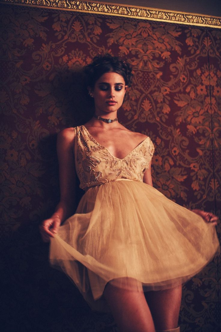 Taylor Hill wears Mini Dress for November 2015 Lookbook Photoshoot