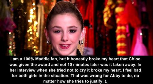 Not that I am a maddie fan, this interview broke my heart I almost was in tears! I love you Chlo Bird! dance moms confessions