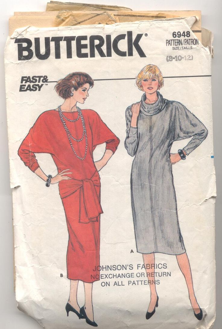 Butterick 6948 Ladies Dress Vintage Sewing Pattern by KnitsanStitches on Etsy